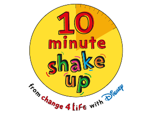 Image of the 10 minute shake up logo.