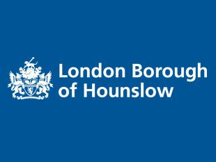 Hounslow Council logo in blue