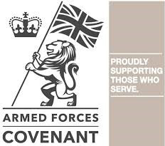 The armed forces covenant logo.