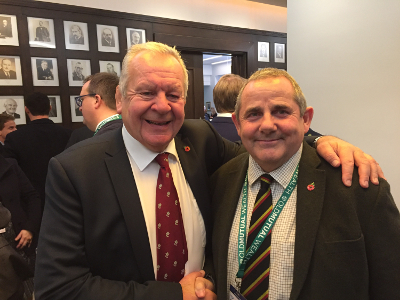 Image of Bill Beaumont and Councillor Steve Curran.
