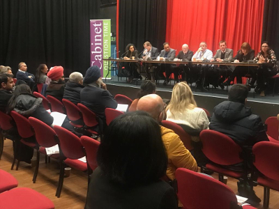 Image of the Hounslow Council Cabinet at the Cabinet Question time event.