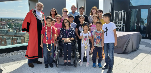 Image of the Mayor of Hounslow, Ward Councillors and Children from Heston.