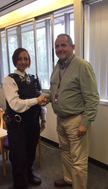 Image of Cllr Curran and LBH Police Officer, PC Baxter