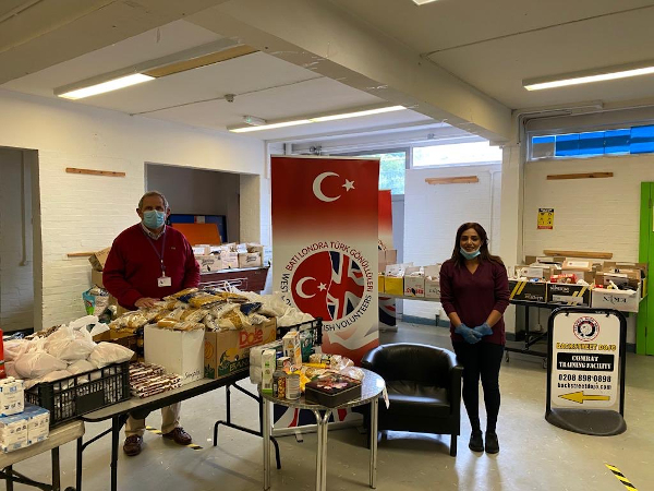 Cllr Curran and Cllr Chaudhary at the West London Turkish Community Hub in Hanworth.
