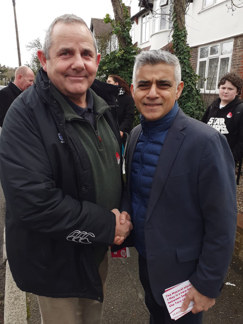 Cllr Curran with Mayor of London, Sadiq Khan.