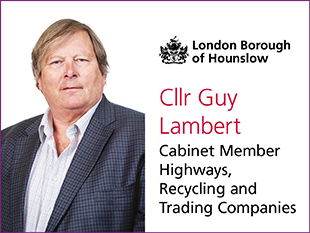 Image of Cllr Guy Lambert, cabinet member for Highways, Recycling and Trading companies.