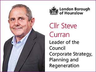 Image of Cllr Steve Curran, Leader of Hounslow Council and his Cabinet portfolio