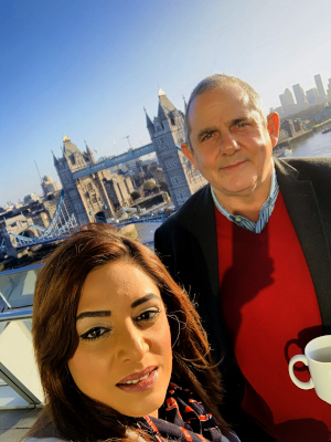 Image of Cllr Curran with Cllr Samia Chaudhary at City Hall.
