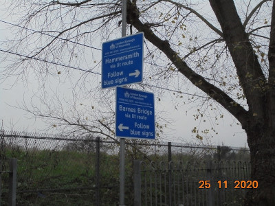 Image of Dukes Meadow signage.