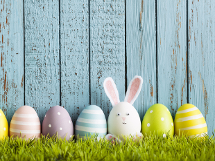 Image of decorated Easter eggs.