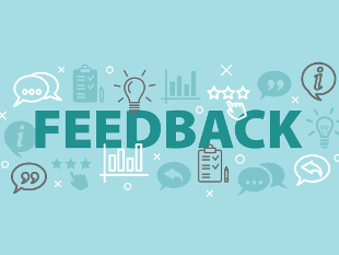 "A stock image of the word ""Feedback"""