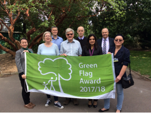 Image of GreenFlag and Cllr Samia Choudhry