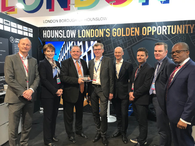 Image of Linkcity UK, Bouygues and Hounslow council representatives at MIPIM.