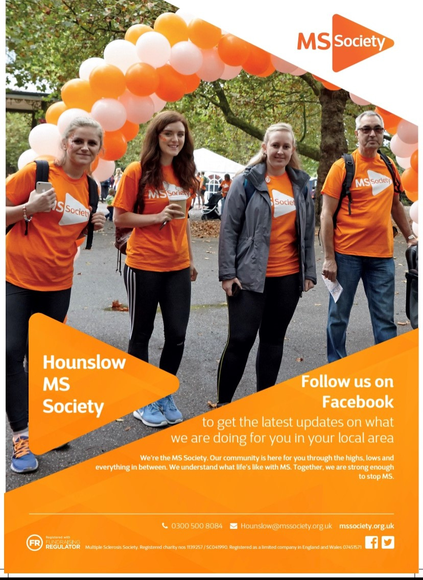 MS Society Hounslow poster