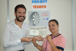 Award winning programme, L-R Nikolaos Galanis, Project SEARCH Lead Job Coach, Hounslow and Suzanne Rodrigues, Project SEARCH Tutor, Hounslow, with award