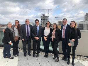 Myself, Chief Executive Niall Bolger, Assistant Chief Executive Mandy Skinner (2nd and 3rd from the right respectively) and colleagues from Issy-Les-Moulineaux.