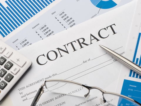 Image of a paper contract