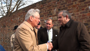 Image of Cllr Steve Curran shaking hands with the Duke of Gloucester.