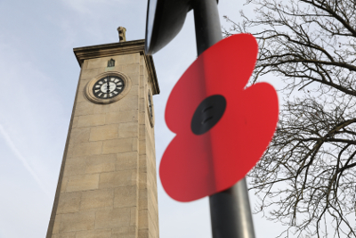 Image of a lamp post poppy in Hounslow.