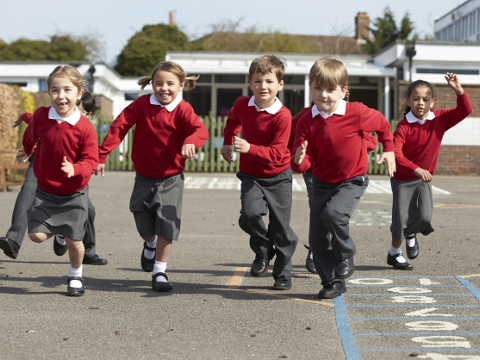 Image of Primary school children playing