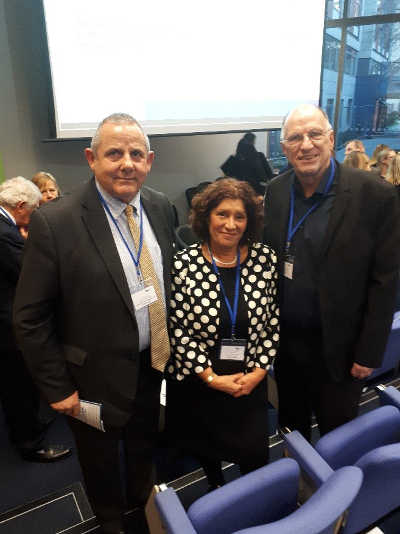 Image of Cllr Curran with Rachel Cerfontyne, Chair of Heathrow Engagement Board and John Stewart, Chair of HACAN