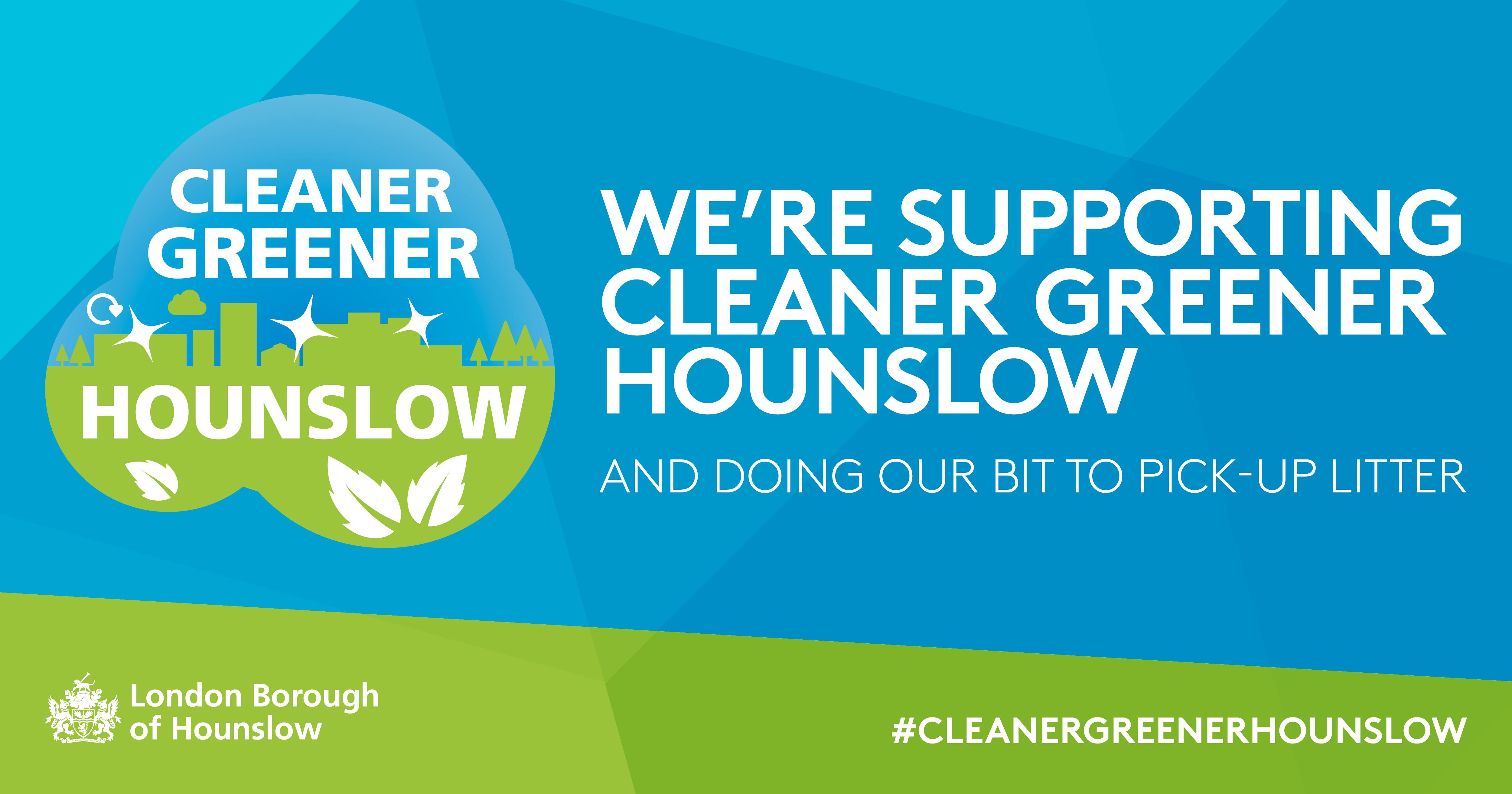 Cleaner Greener Campaign banner for Facebook