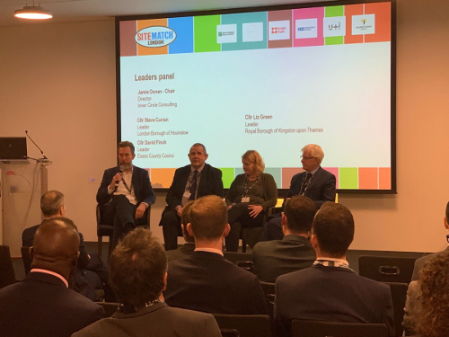 Image of Cllr Steve Curran on the Sitematch London panel.