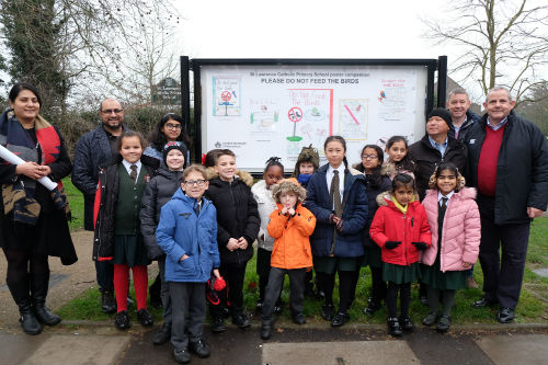 Children from St Lawrence Catholic Primary School, Feltham.