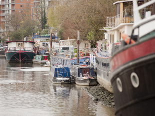Image of boats moored in Brentford.