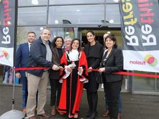 Ribbon cutting at Hanworth Air Park Leisure Centre to kick start the celebrations