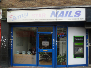 Image of Amy Nails shop front.