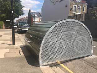 Image of a bike shed in the London Borough of Hounslow
