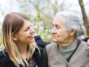 Image of a carer and client.