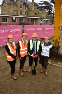 Image of stakeholders at Lampton Road ground-breaking event