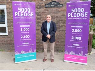 Cllr Curran pledges to secure 5,000 new homes