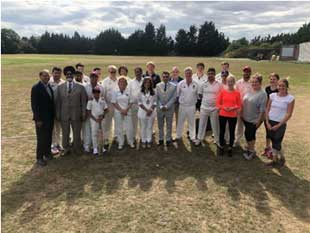 charity cricket match hosted by Mayor of Hounslow, Cllr Samia Chaudhary