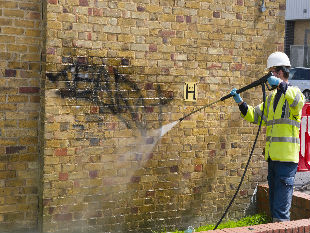 Hounslow Highways staff carrying out work as part of the large-scale cleaning programme