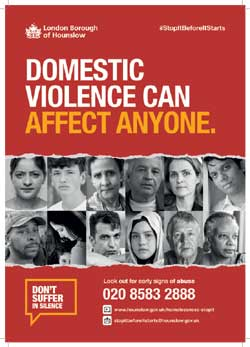 Image of a poster for Domestic violence if you affected by homelessness