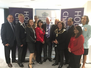 Image of Cllr Curran at the Hounslow Festival of Business