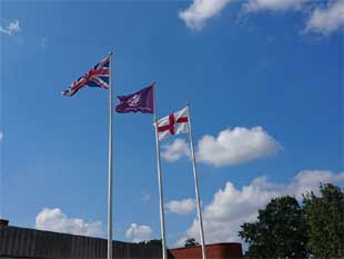 St George flag flying outside the civic centre