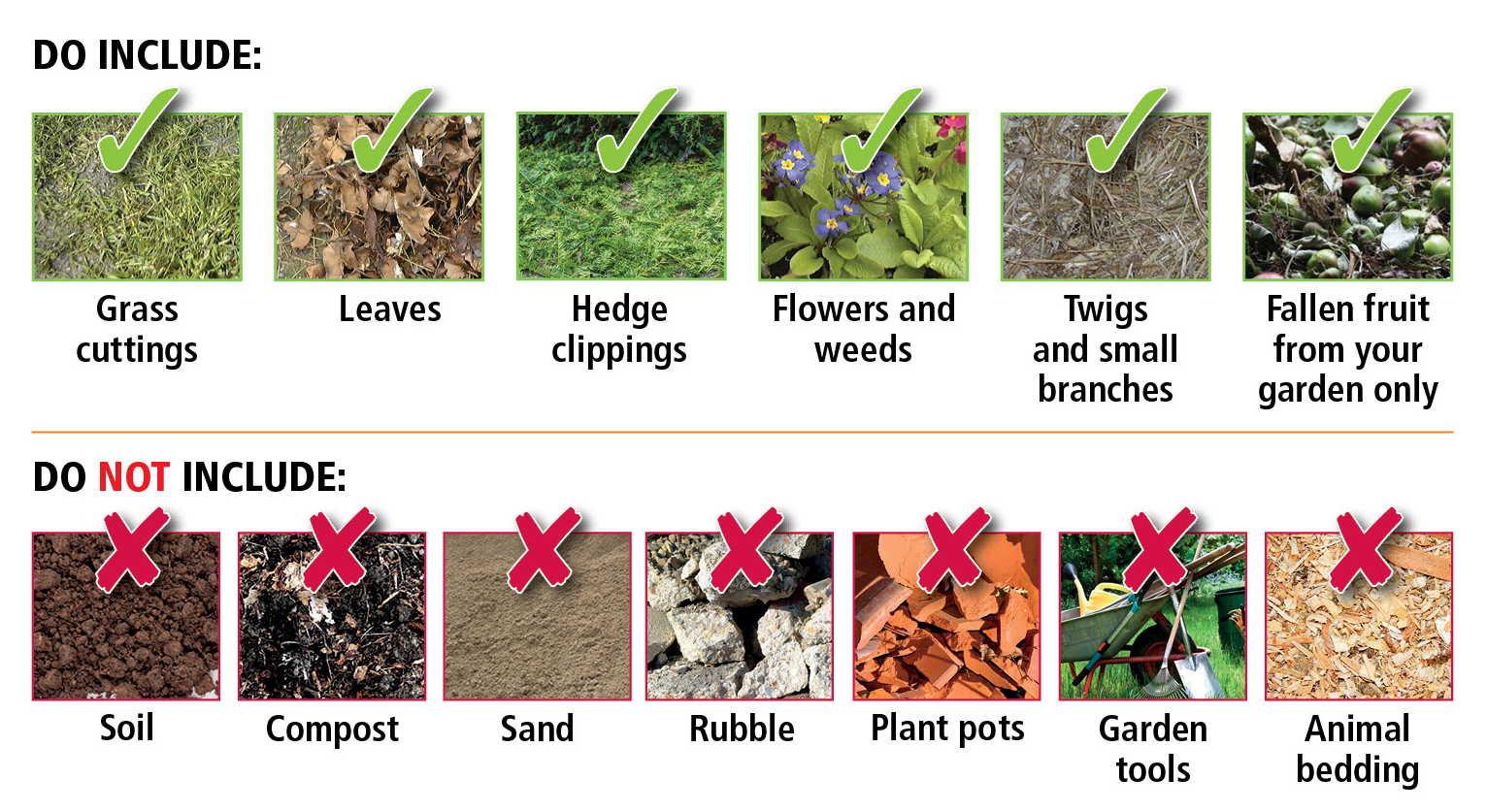What you can and cant put in your garden waste image