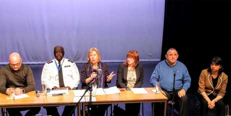 Panel members include Chief Superintendent Paul Martin, Ruth Cadbury MP, Cllr Katherine Dunne and myself