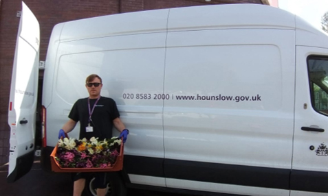 Delivering food outside the Community Hub