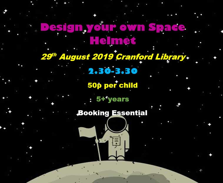 Create your own space helmet poster event