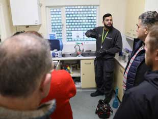 Mohammod, one of Coalo's qualified plumbers hosting a session at Clayponds Community Centre, Brentford