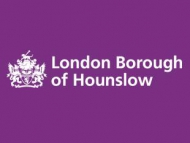Image of Hounslow logo on a purple background