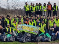 Image of AMYA group after the new year clean up.