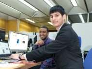 Image of two Hounslow award winning apprentices