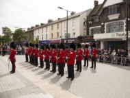 Image of Irish Guard in rank at the Armed Forces Day in Hounslow