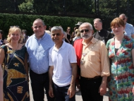 image of Ruth Cadbury MP, Councillor Steve Curran, Mayor of London, Sadiq Khan, Mayor of Hounslow, Tony Louki and Councillor Katherine Dunne